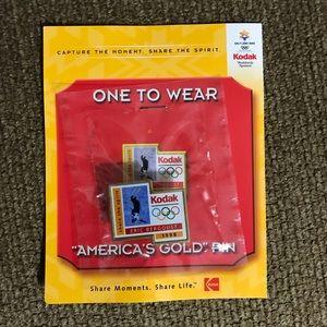 2002 Salt Lake City Kodak E. Bergoust Olympic Pin